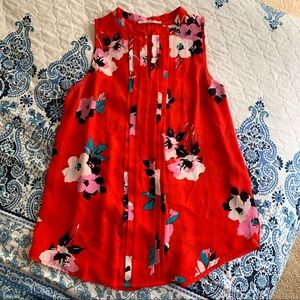 Red floral 41 Hawthorn blouse